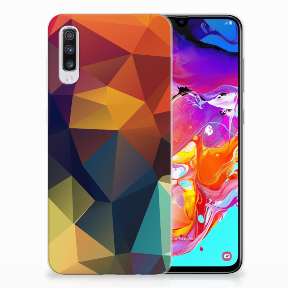 Samsung Galaxy A70 TPU Hoesje Polygon Color