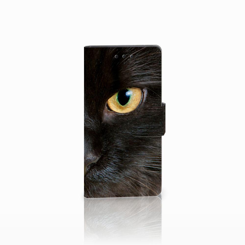 Sony Xperia Z5 Compact Uniek Boekhoesje Zwarte Kat