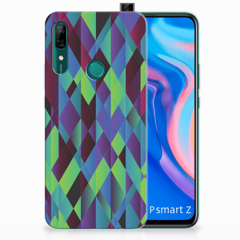 Huawei P Smart Z TPU Hoesje Abstract Green Blue