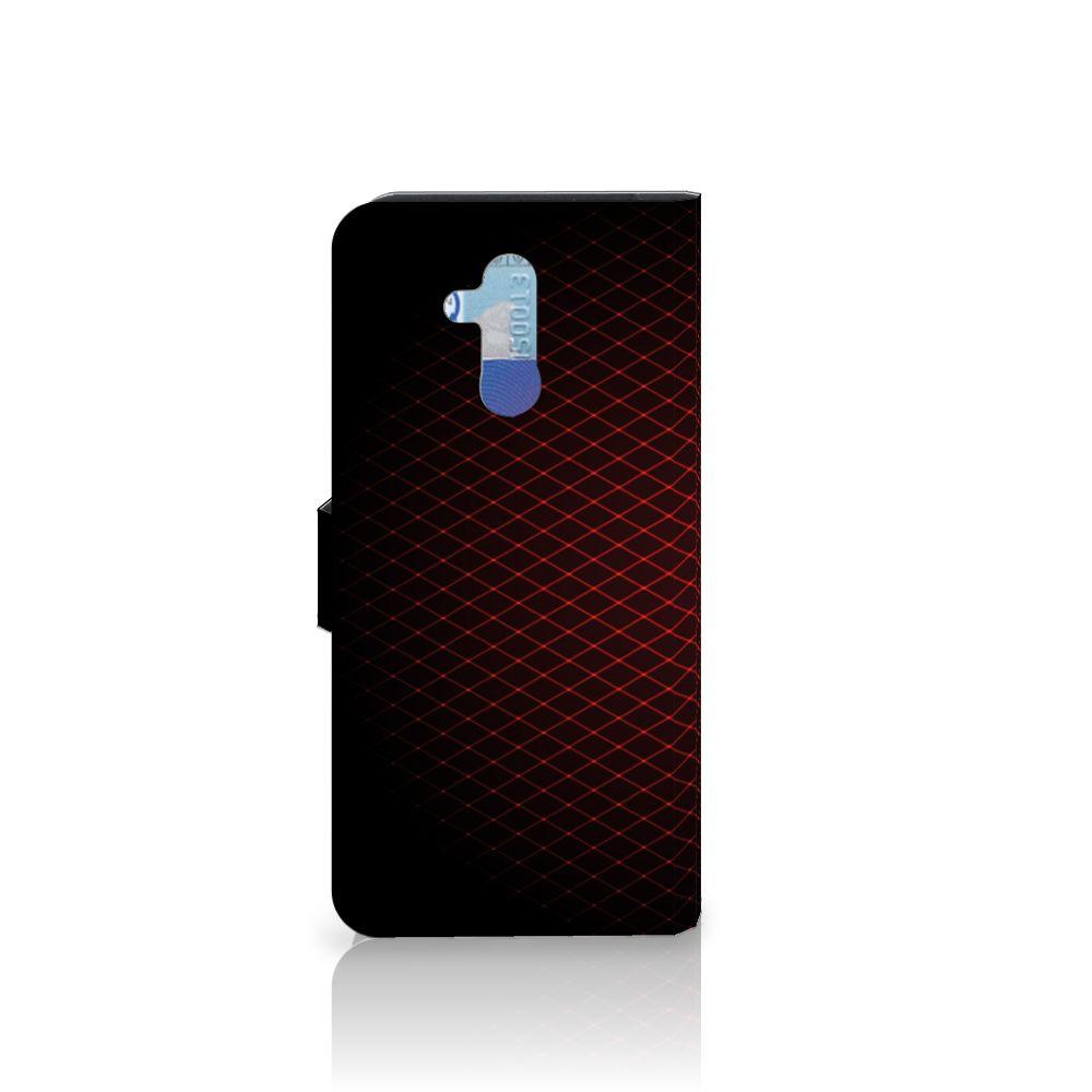 Huawei Mate 20 Lite Telefoon Hoesje Geruit Rood