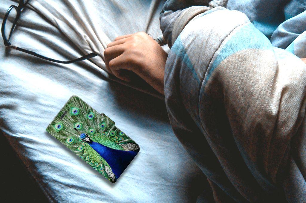 Acer Liquid Z520 Telefoonhoesje met Pasjes Pauw