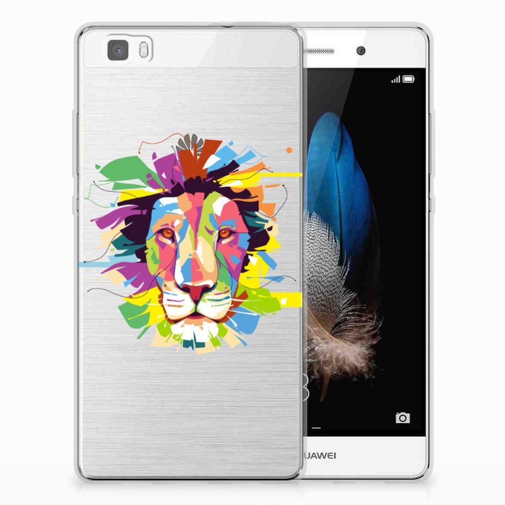 Huawei Ascend P8 Lite Uniek TPU Hoesje Lion Color