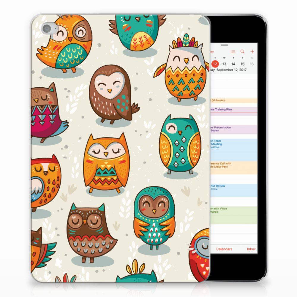 Apple iPad Mini 4   Mini 5 (2019) Back Case Vrolijke Uilen