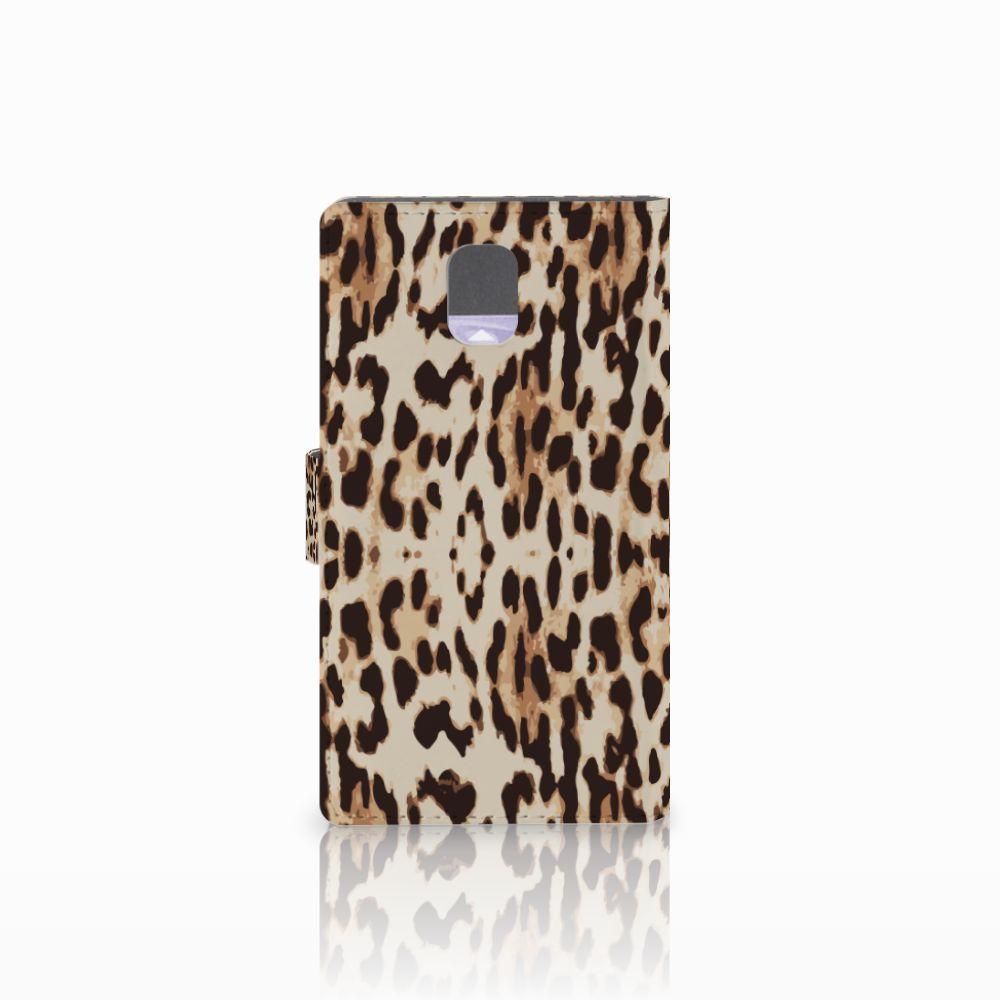 Samsung Galaxy Note 3 Telefoonhoesje met Pasjes Leopard