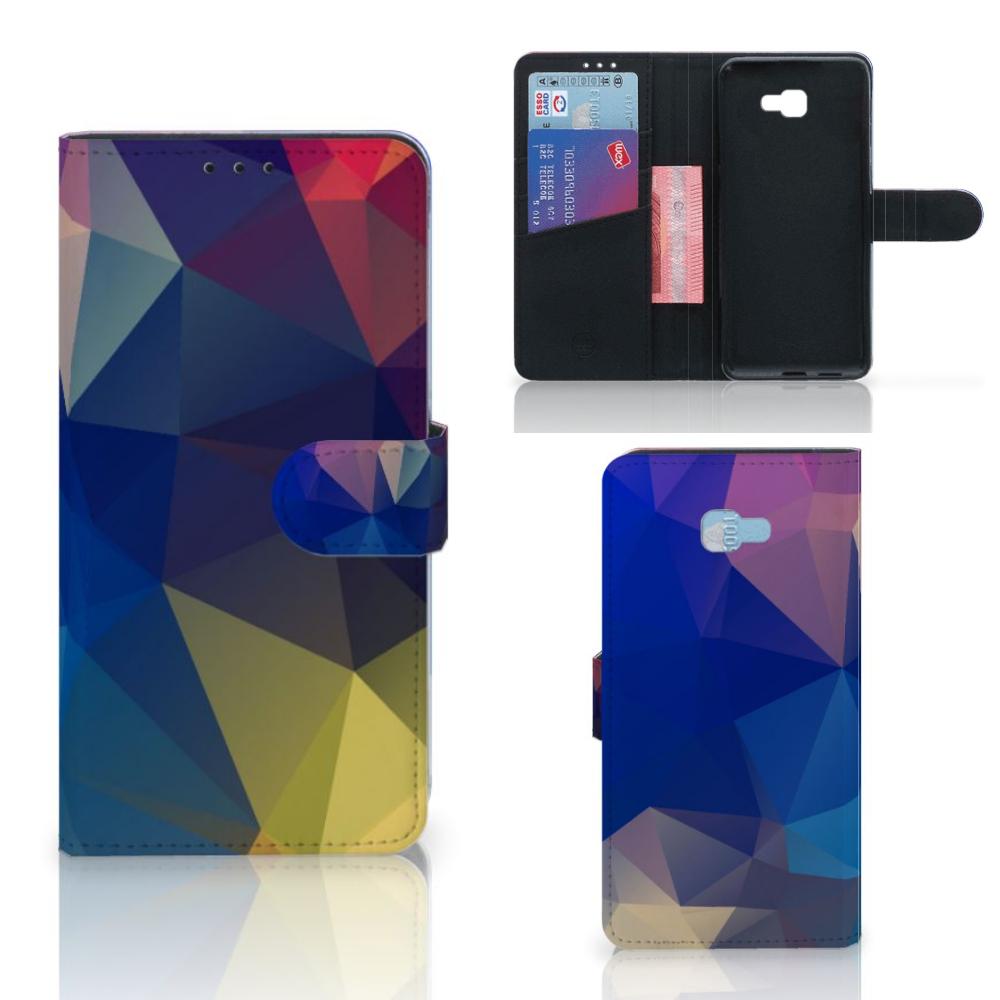 Samsung Galaxy J4 Plus (2018) Bookcase Polygon Dark