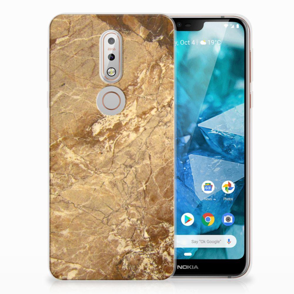Nokia 7.1 TPU Hoesje Design Marmer