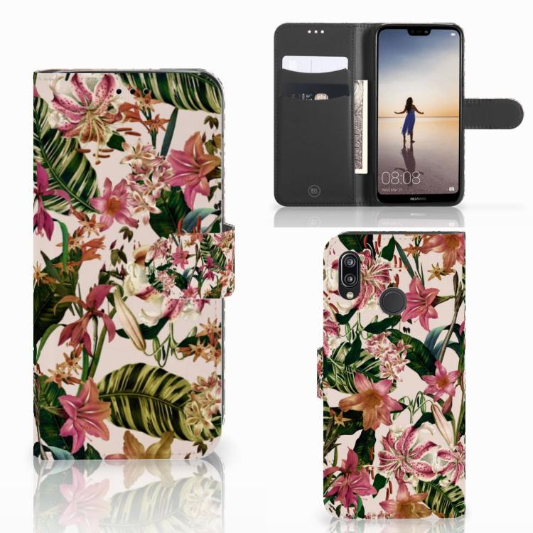 Huawei P20 Lite Hoesje Flowers