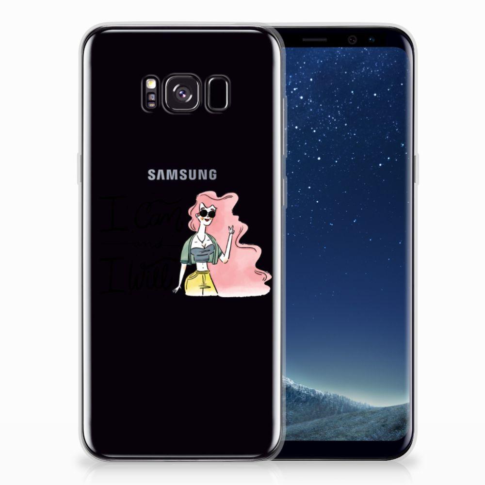 Samsung Galaxy S8 Plus Telefoonhoesje met Naam i Can