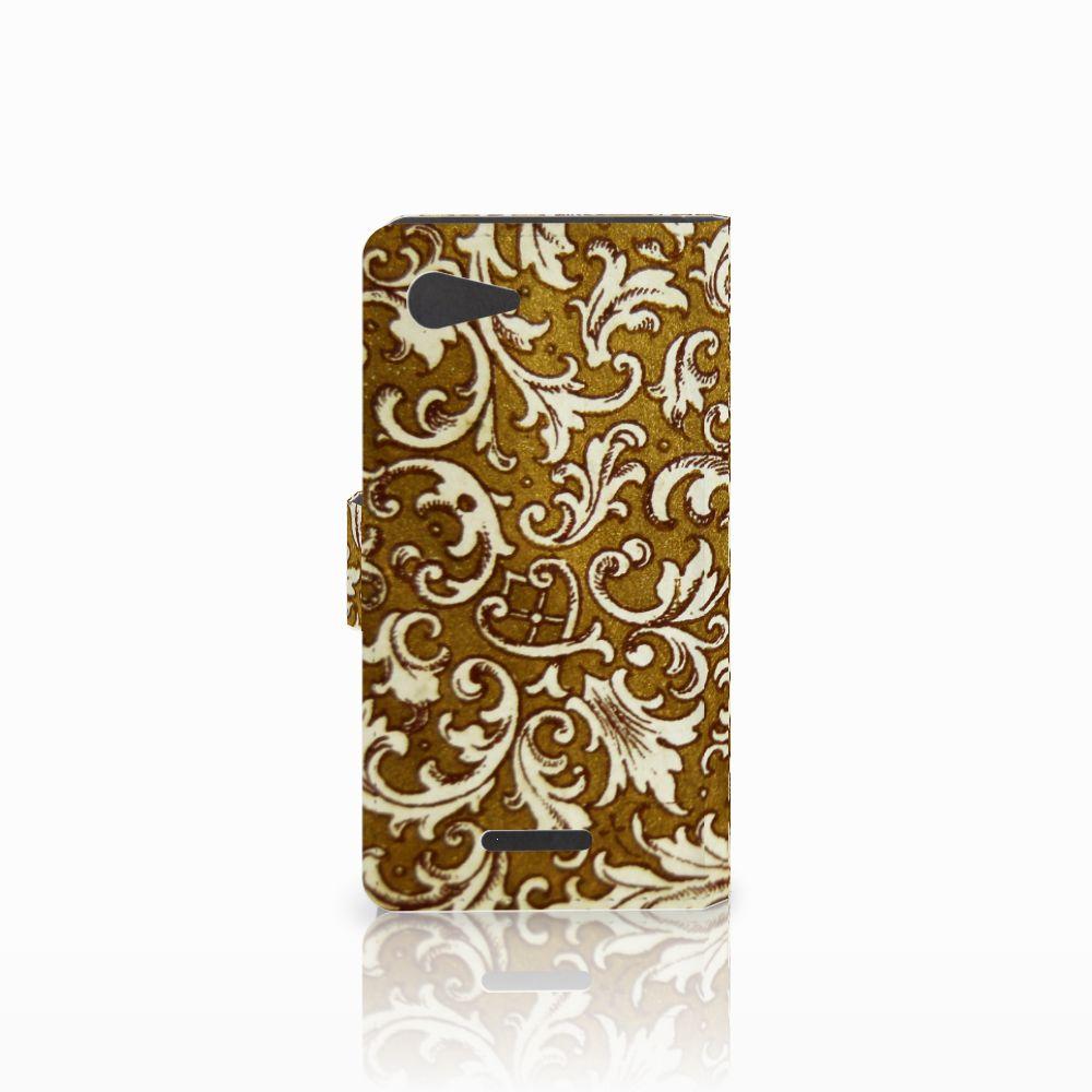 Wallet Case Sony Xperia E3 Barok Goud