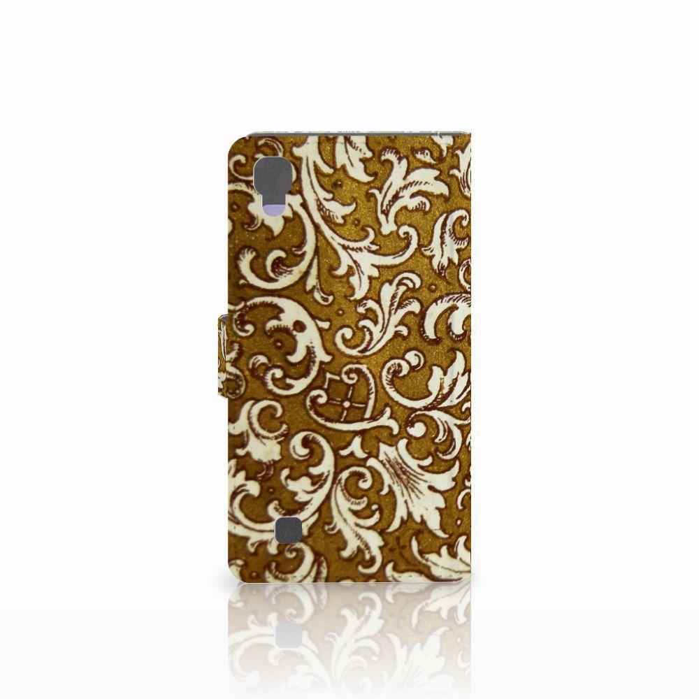 Wallet Case LG X Power Barok Goud