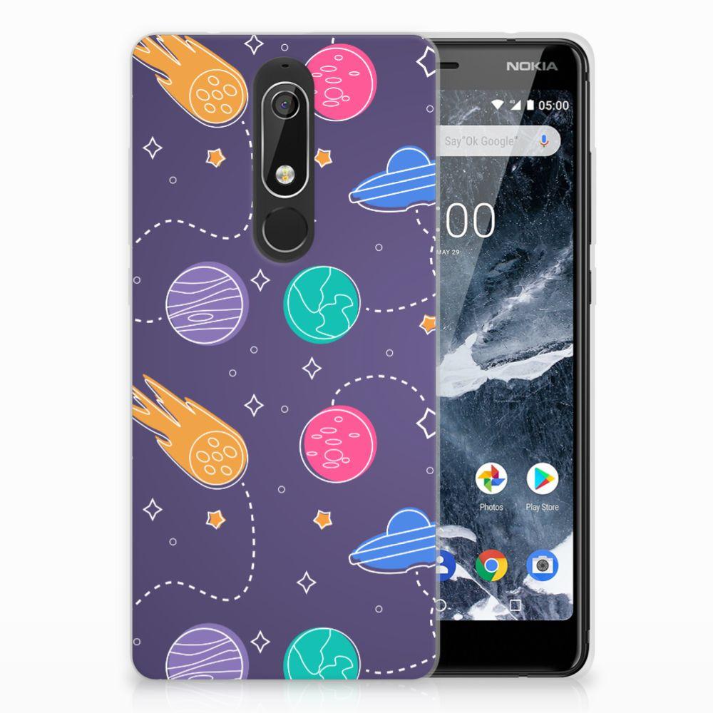 Nokia 5.1 (2018) Uniek TPU Hoesje Space