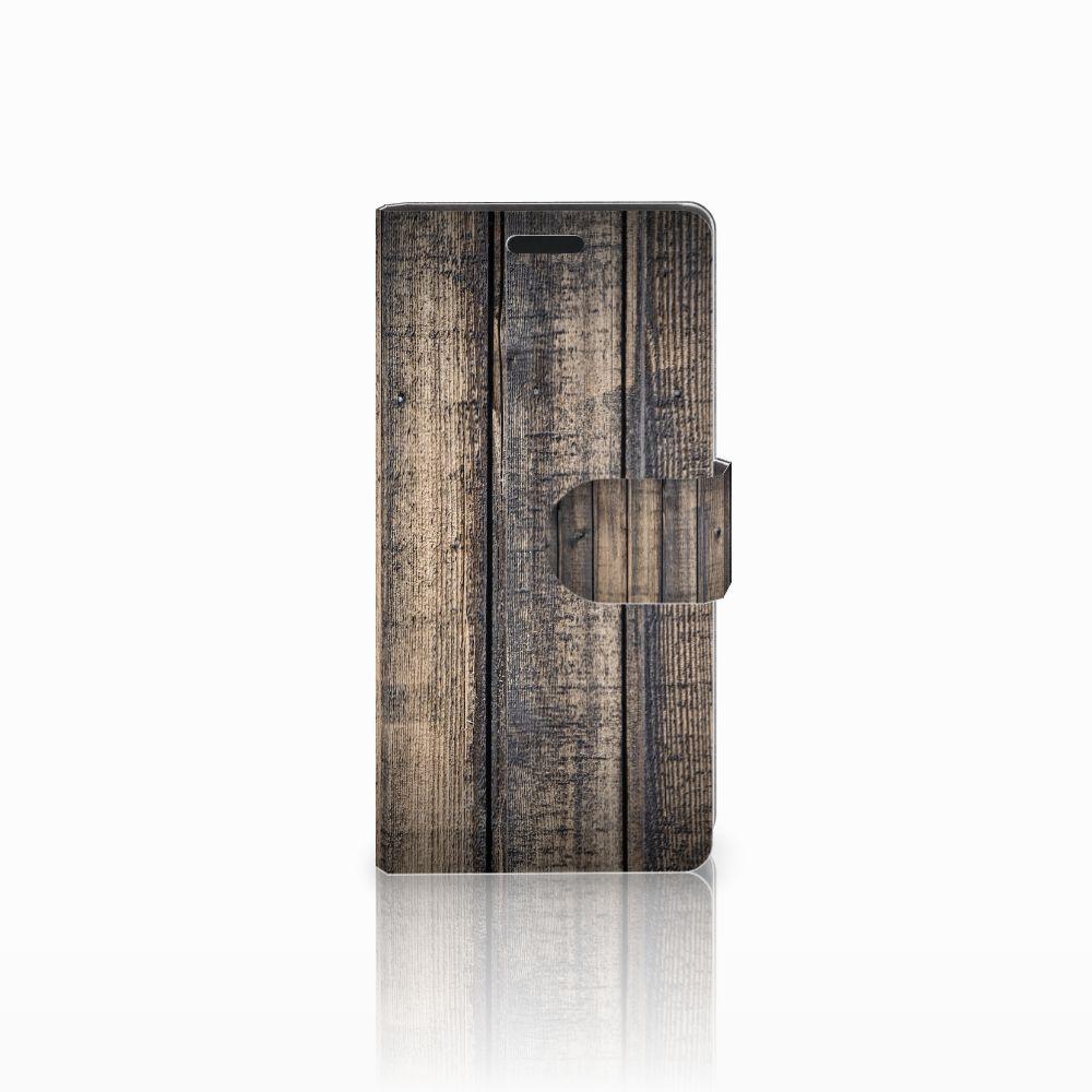 LG Leon 4G Boekhoesje Design Steigerhout
