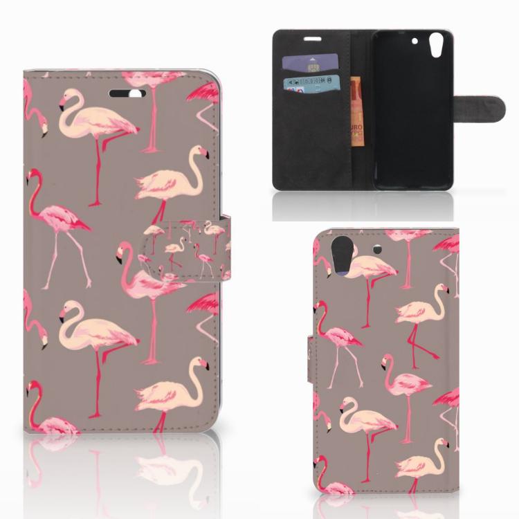 Huawei Y6 II | Honor 5A Telefoonhoesje met Pasjes Flamingo