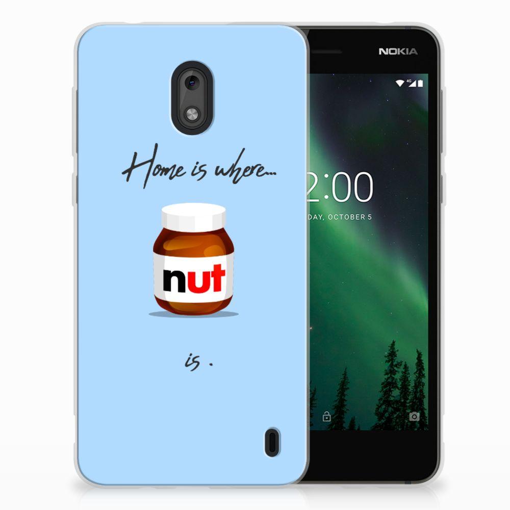Nokia 2 Siliconen Case Nut Home
