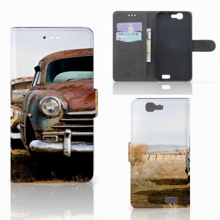 Huawei Ascend G7 Telefoonhoesje met foto Vintage Auto