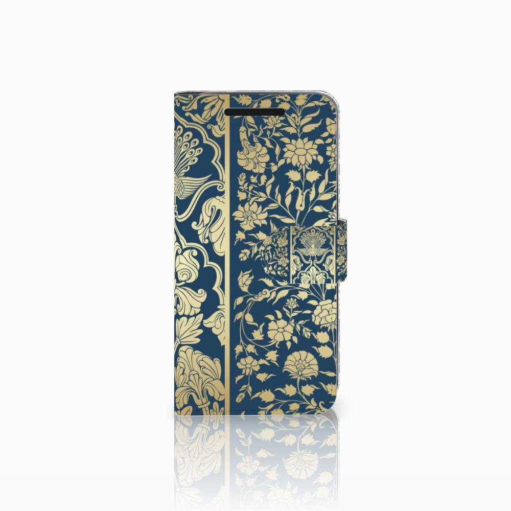 HTC One M9 Boekhoesje Golden Flowers