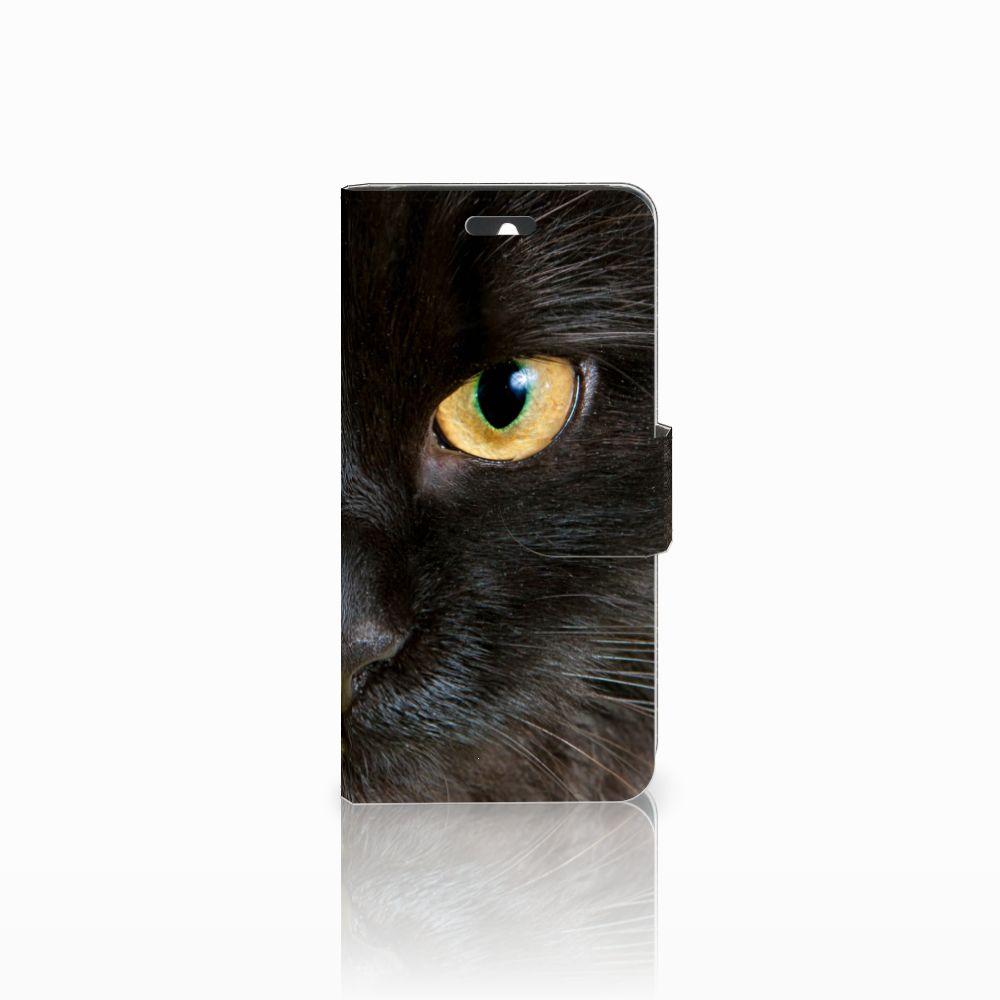 Huawei Ascend Y550 Uniek Boekhoesje Zwarte Kat
