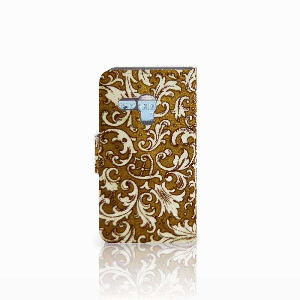 Wallet Case Samsung Galaxy S3 Mini Barok Goud