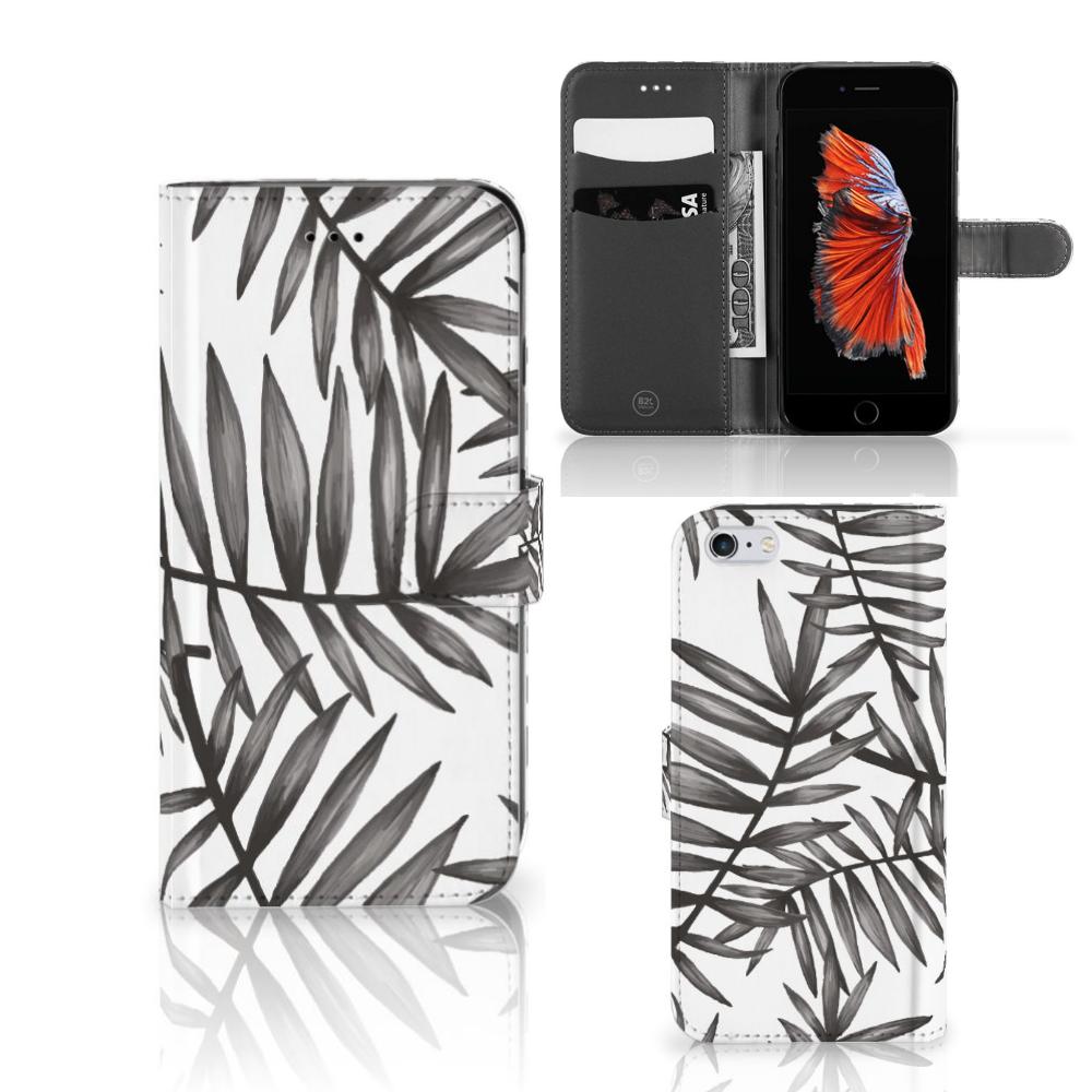 Apple iPhone 6 Plus | 6s Plus Hoesje Leaves Grey