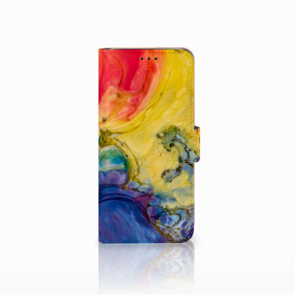 Samsung Galaxy J6 2018 Uniek Boekhoesje Watercolor Dark
