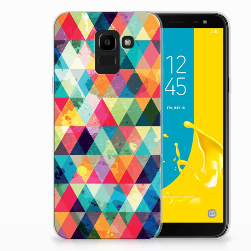 Samsung Galaxy J6 2018 Uniek TPU Hoesje Geruit