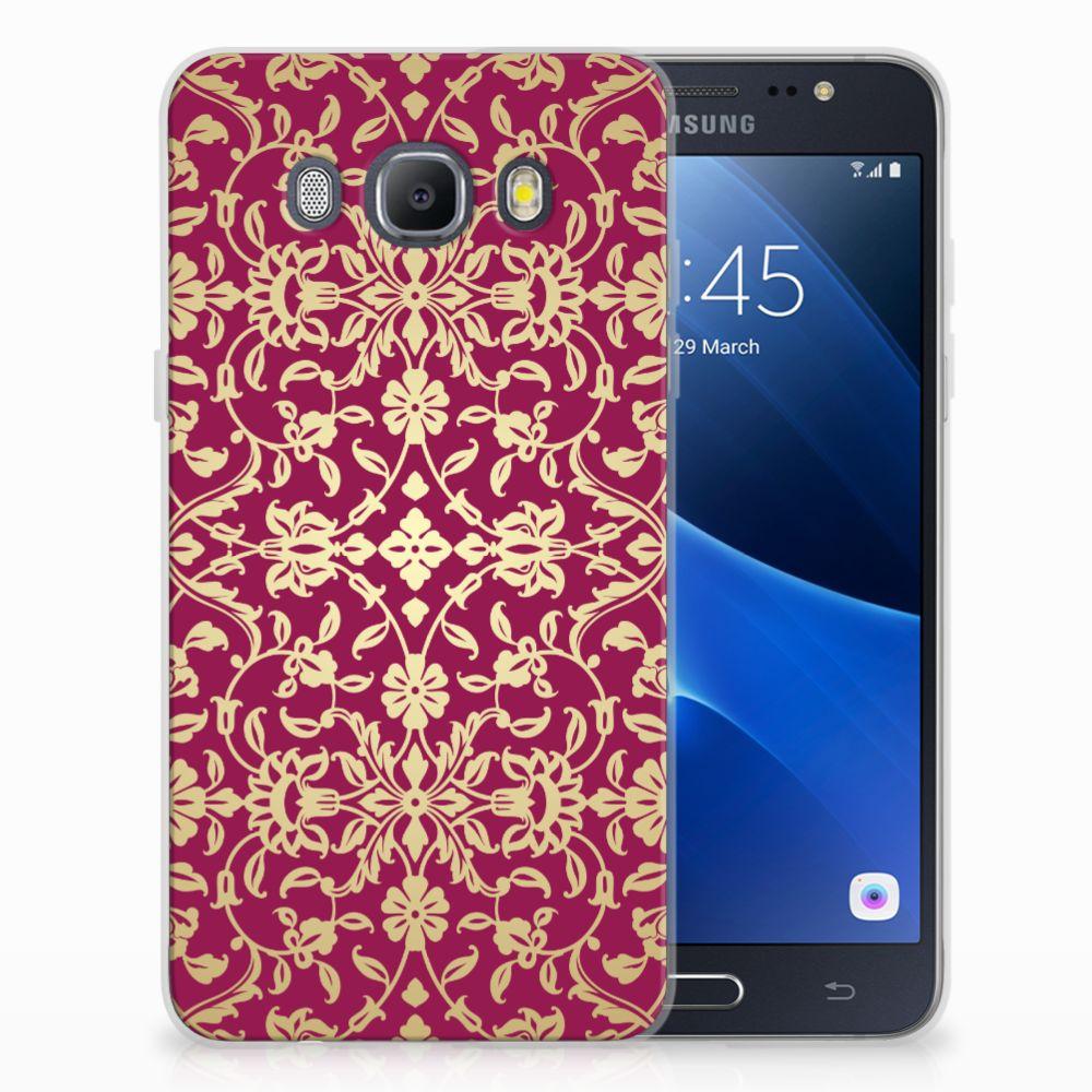 Siliconen Hoesje Samsung Galaxy J5 2016 Barok Pink