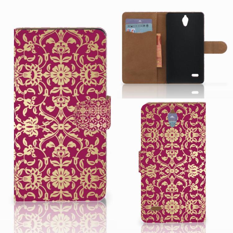 Wallet Case Huawei Ascend G700 Barok Pink