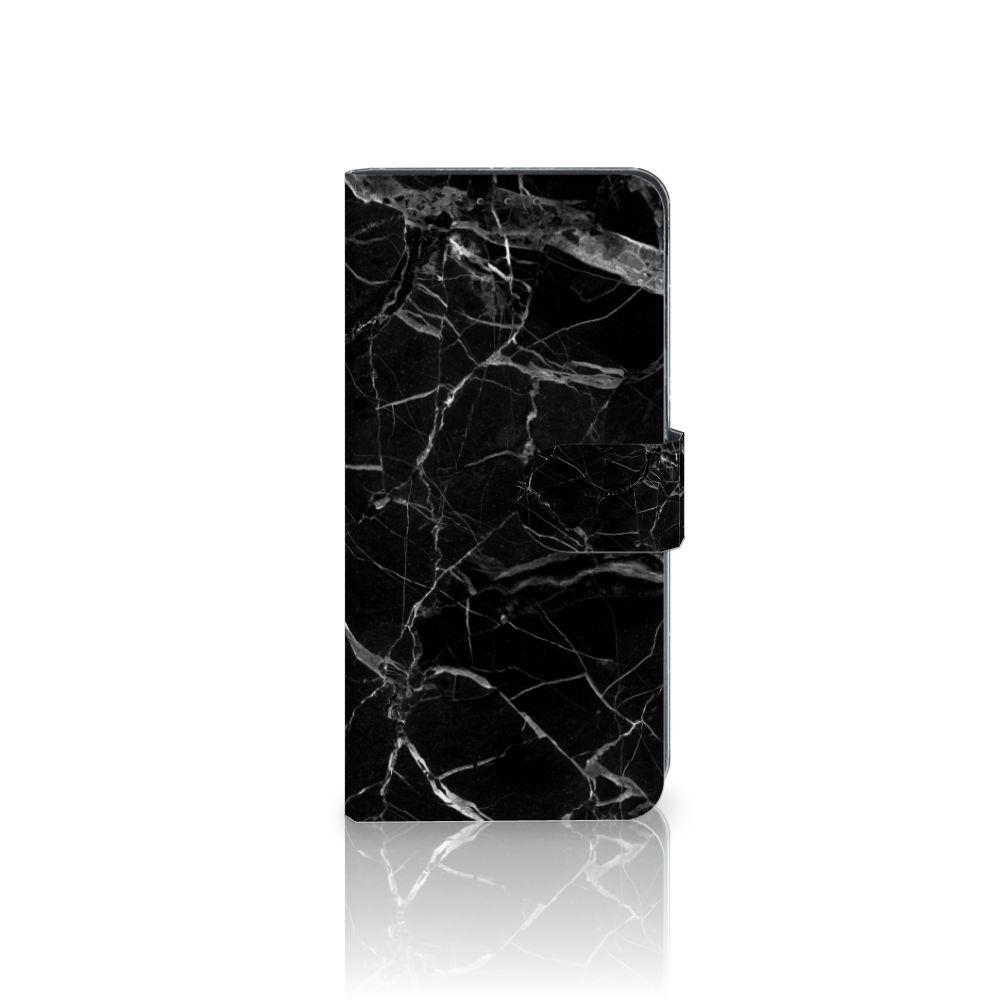 LG V40 Thinq Uniek Boekhoesje Marmer Zwart