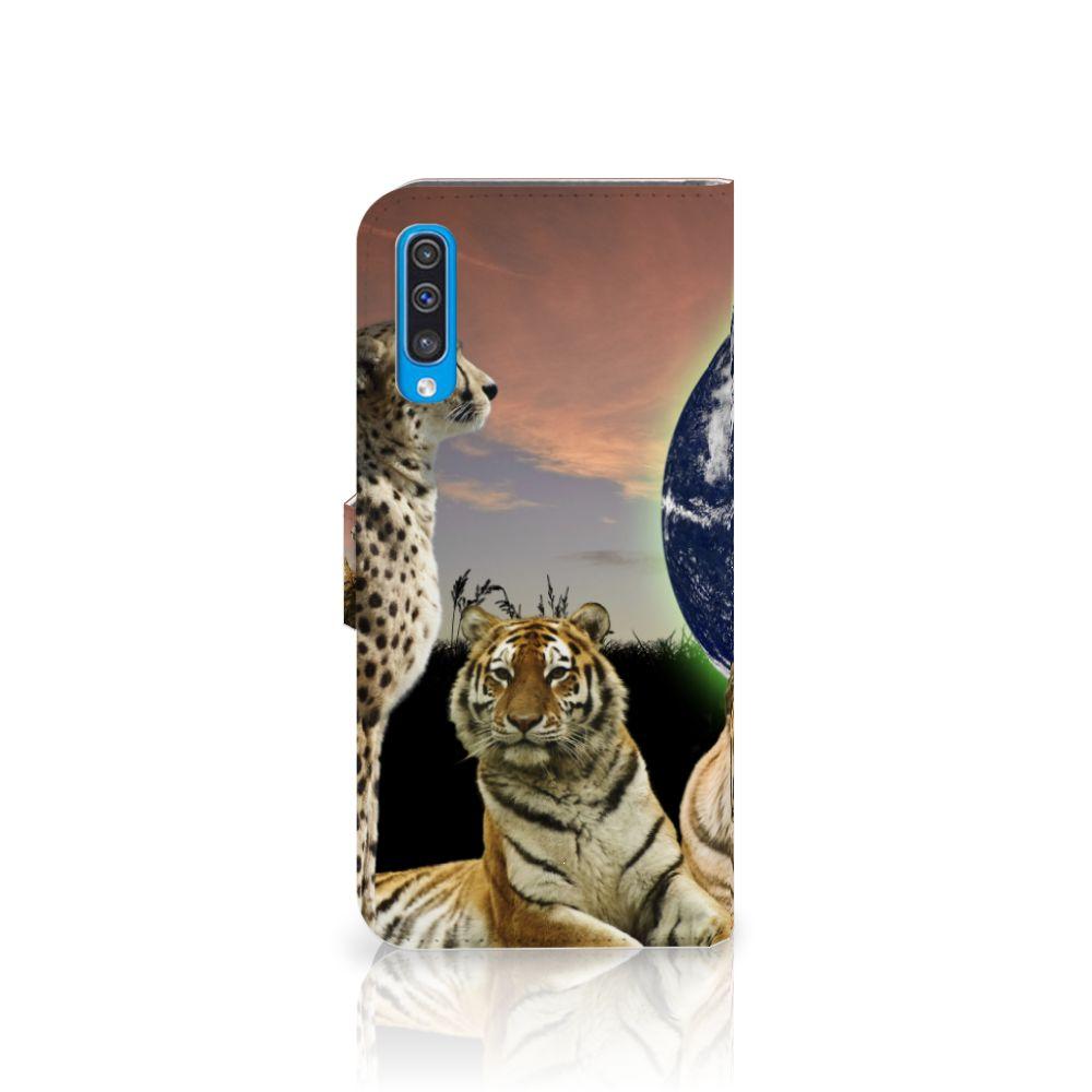 Samsung Galaxy A50 Telefoonhoesje met Pasjes Roofdieren