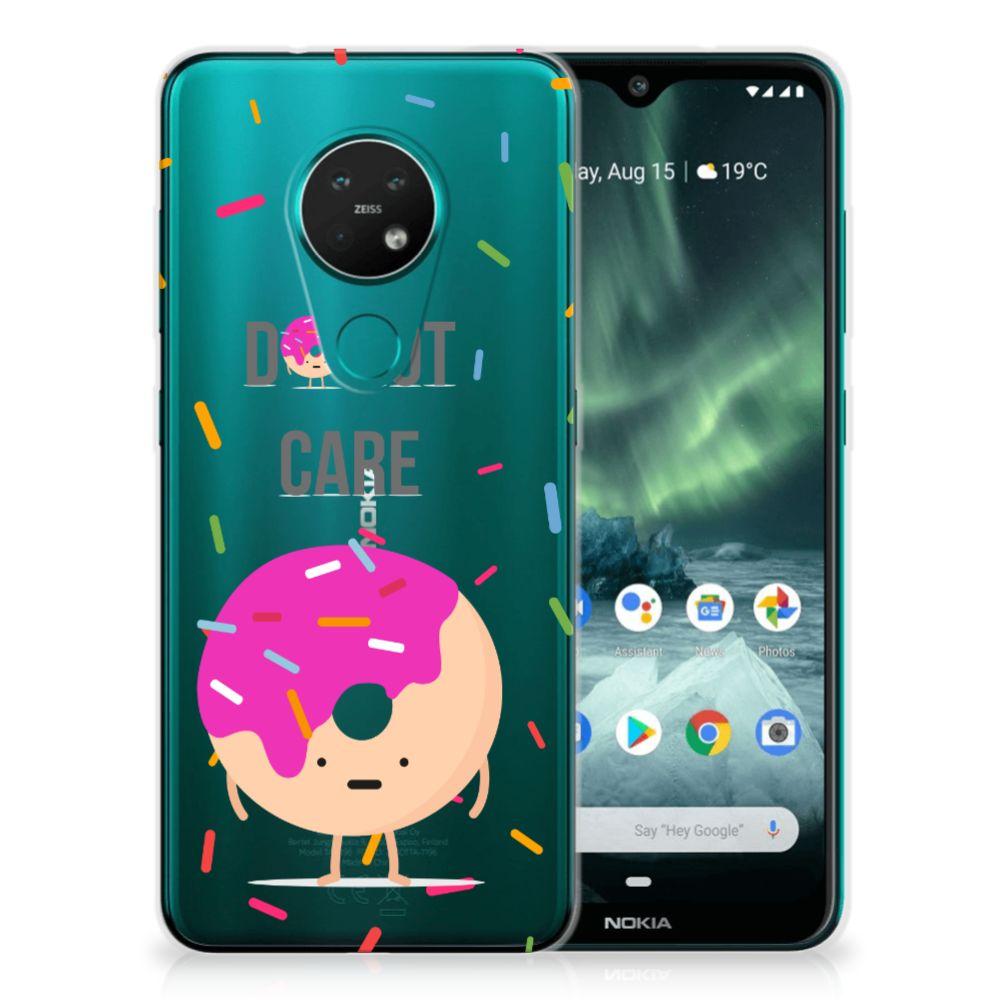 Nokia 7.2 | 6.2 Siliconen Case Donut Roze