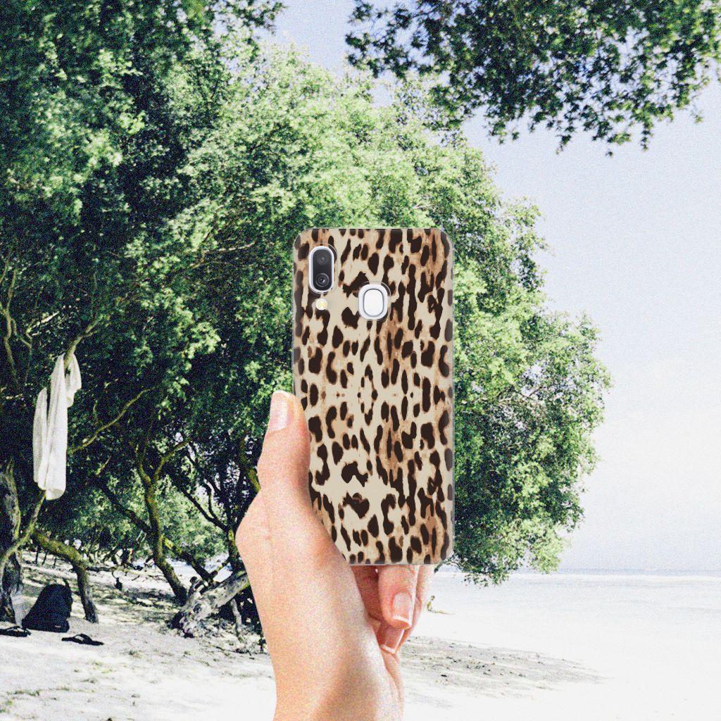 Samsung Galaxy A40 TPU Hoesje Leopard