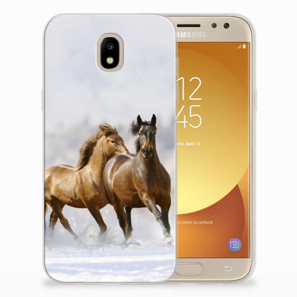 Samsung Galaxy J5 2017 TPU Hoesje Paarden