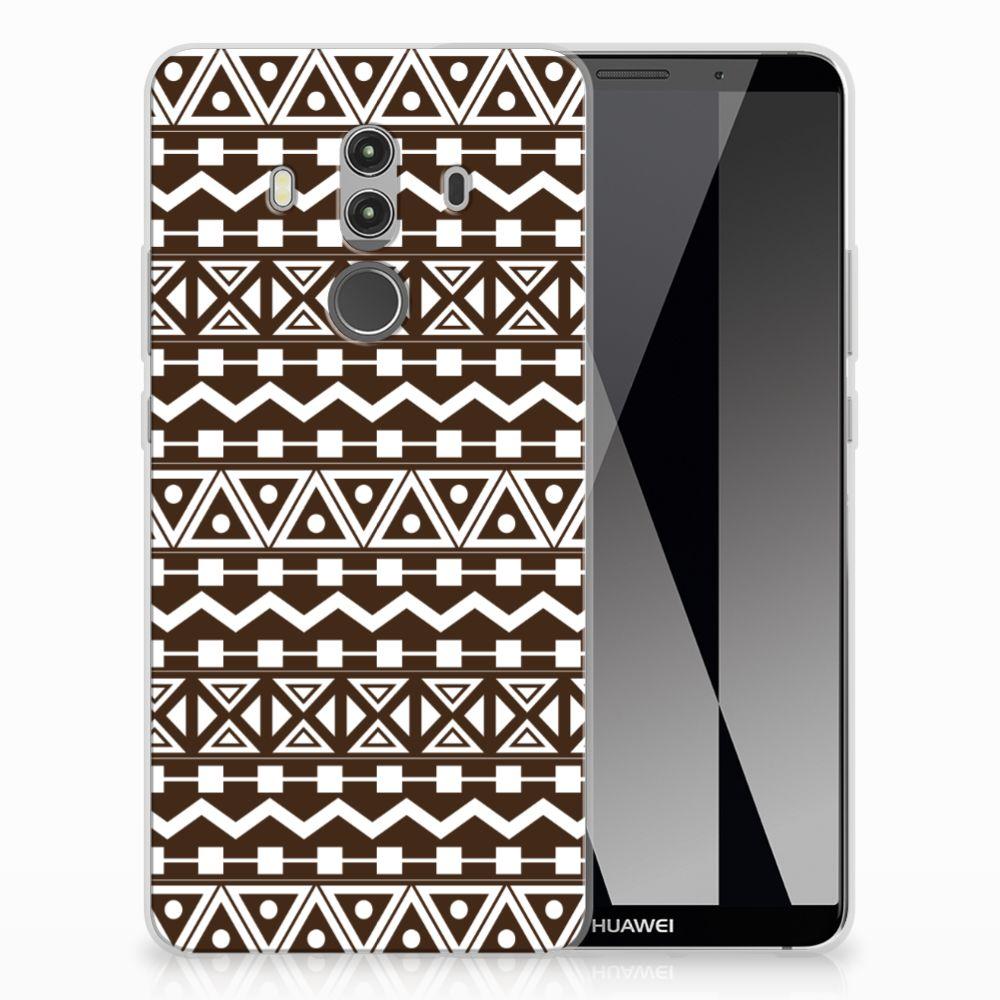 Huawei Mate 10 Pro Uniek TPU Hoesje Aztec Brown