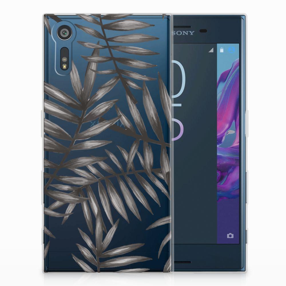Sony Xperia XZs | XZ Uniek TPU Hoesje Leaves Grey