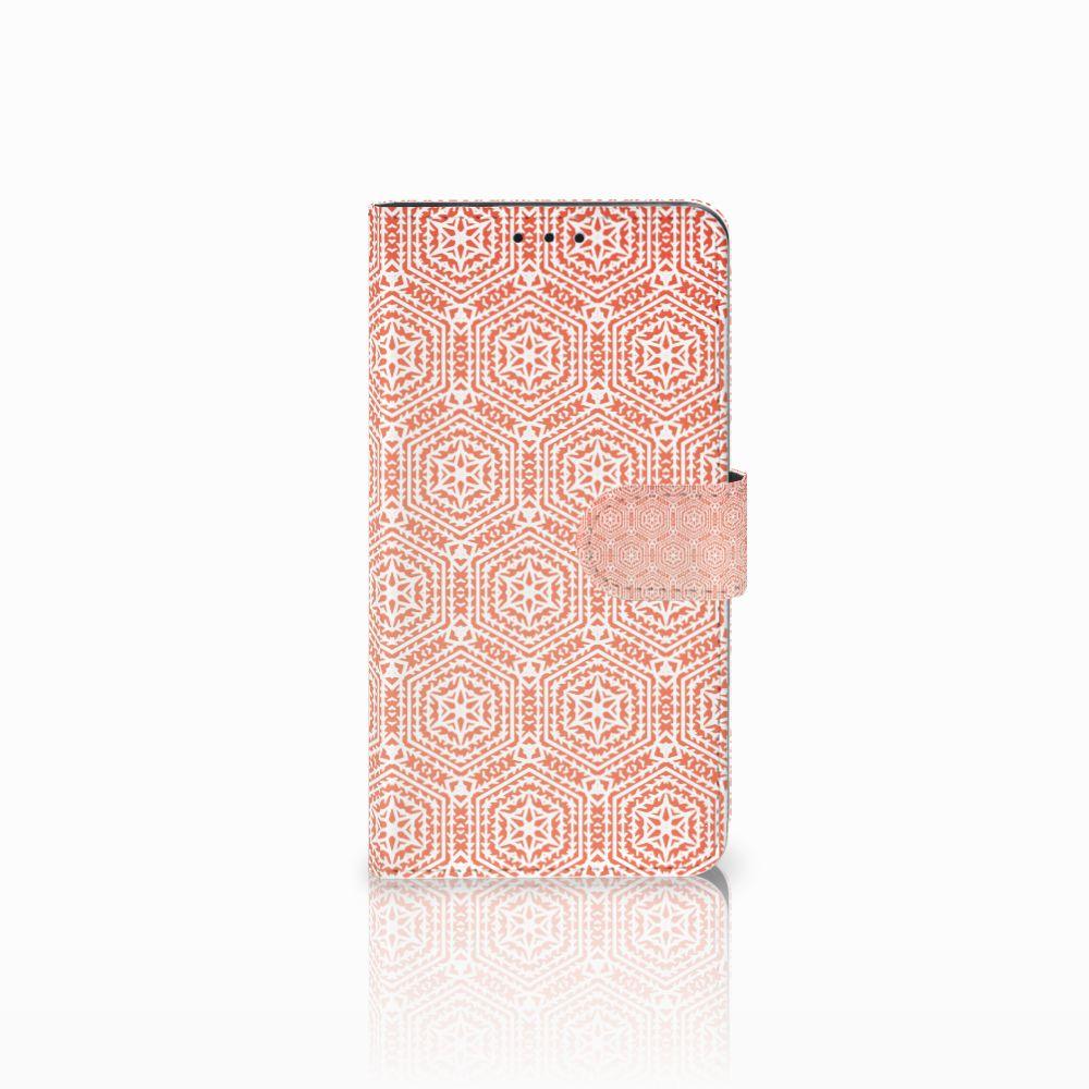 Huawei Honor 6X Uniek Boekhoesje Pattern Orange