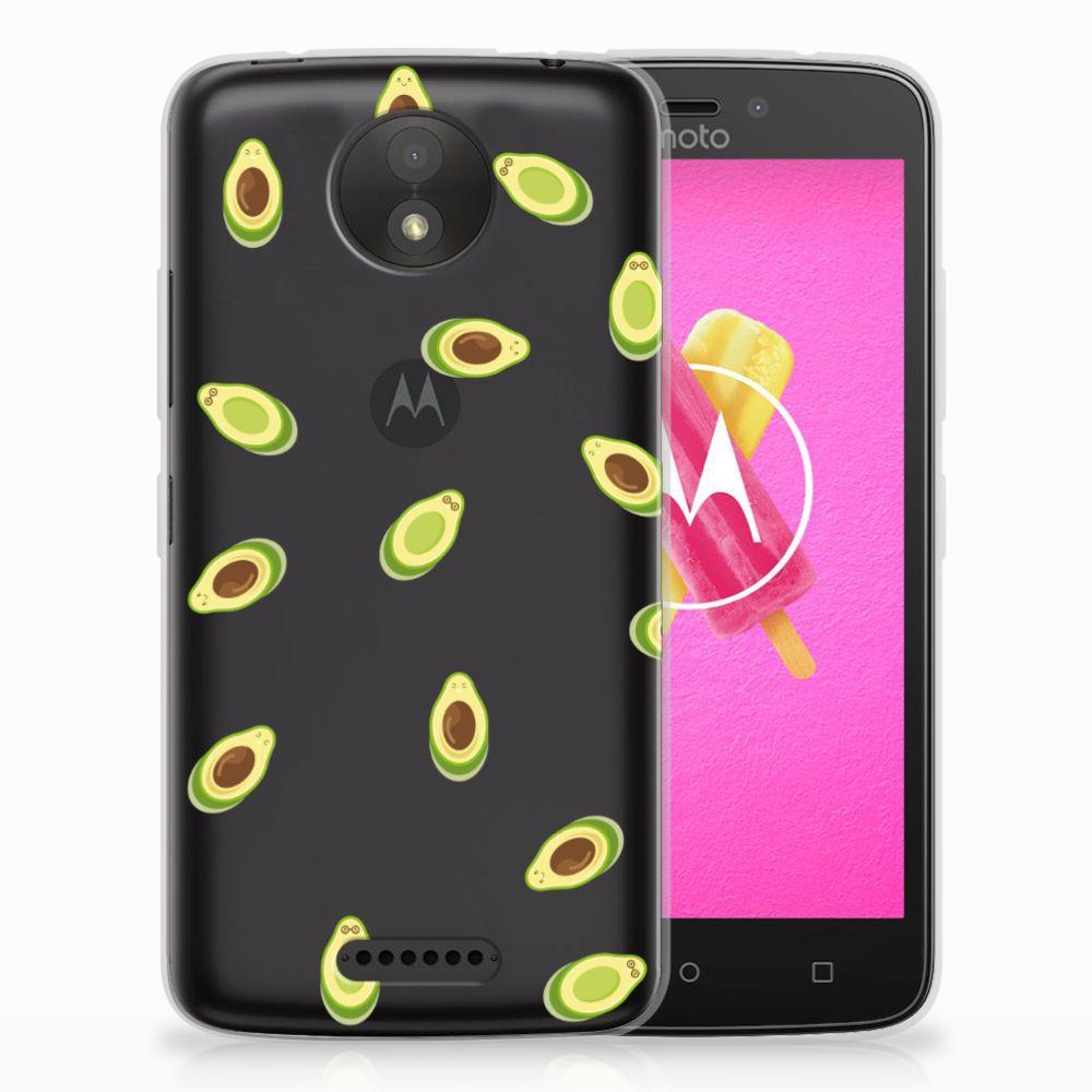 Motorola Moto C Siliconen Case Avocado