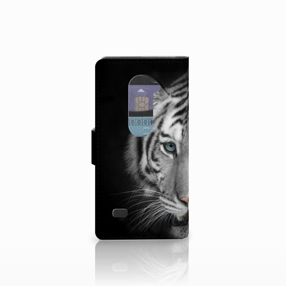 LG Leon 4G Telefoonhoesje met Pasjes Tijger