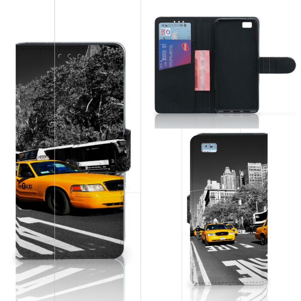 Huawei Ascend P8 Lite Flip Cover New York Taxi