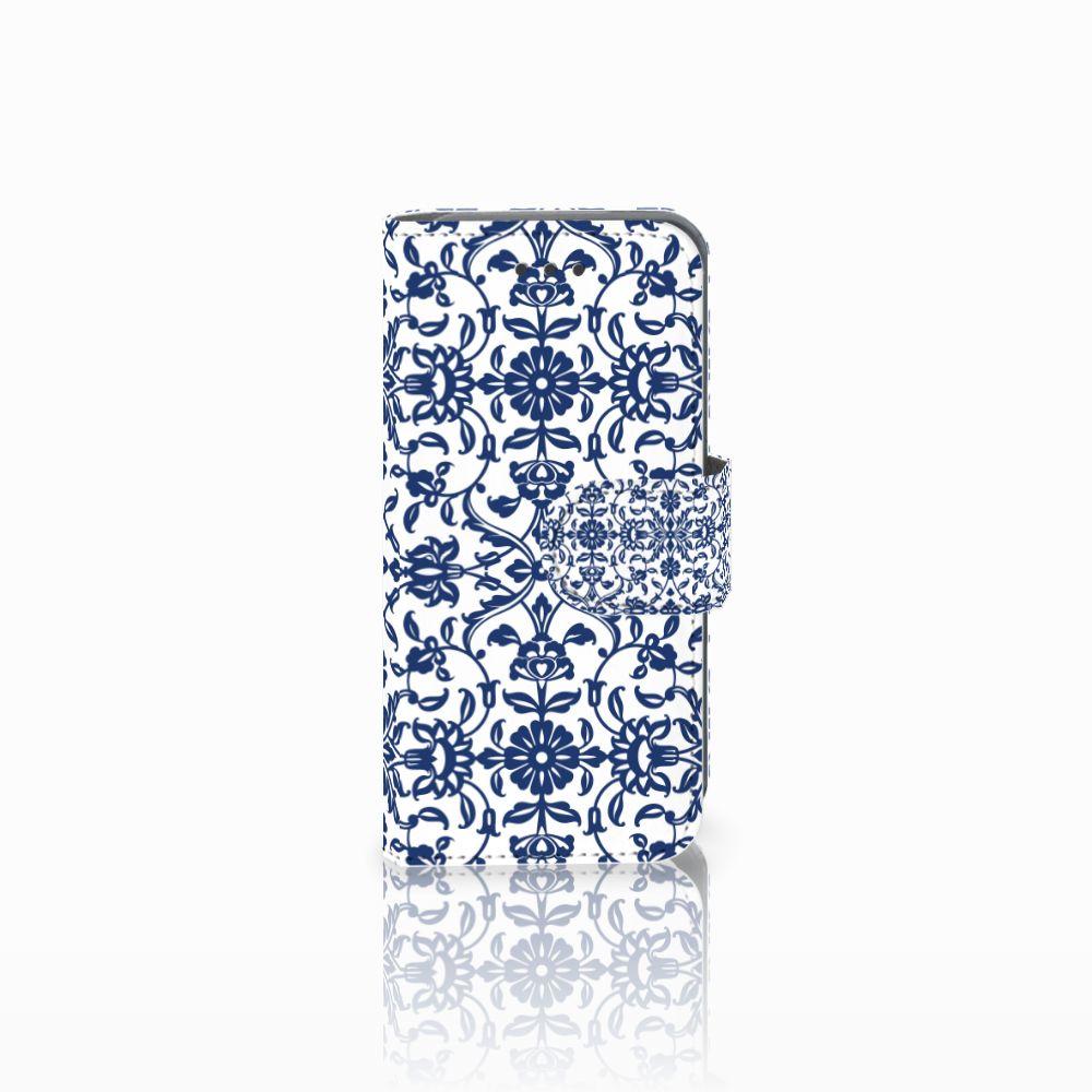 Apple iPod Touch 5 | 6 Uniek Boekhoesje Flower Blue