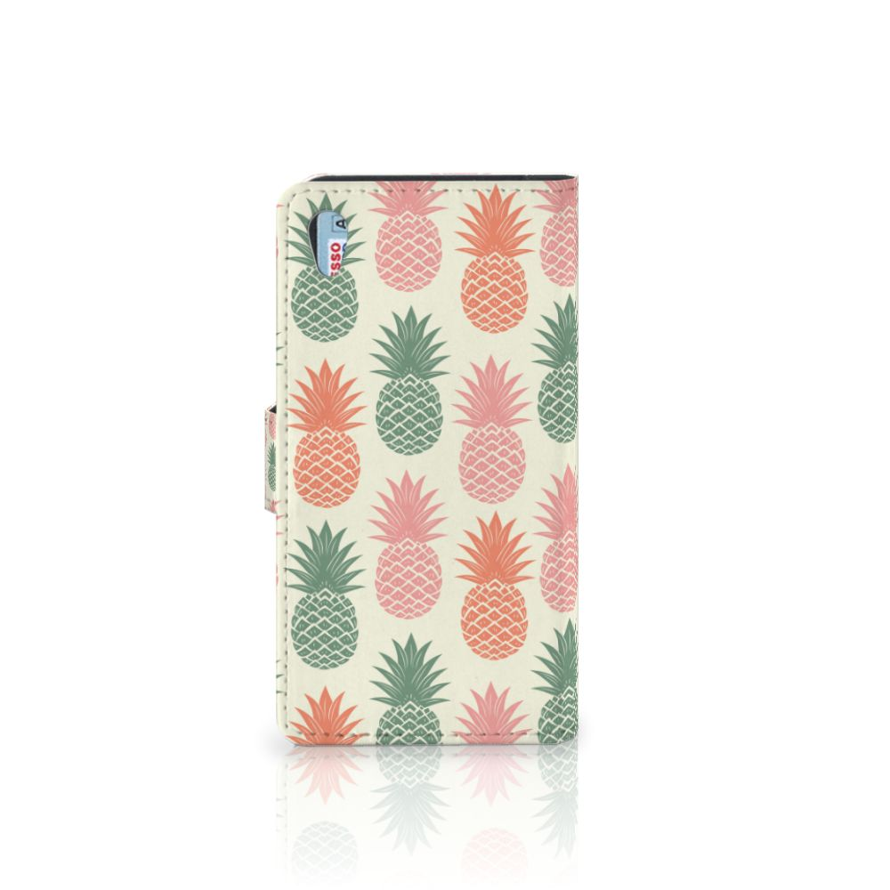 Sony Xperia Z2 Book Cover Ananas