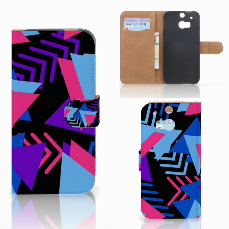 HTC One M8 Bookcase Funky Triangle