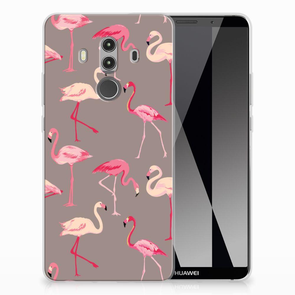 Huawei Mate 10 Pro Uniek TPU Hoesje Flamingo