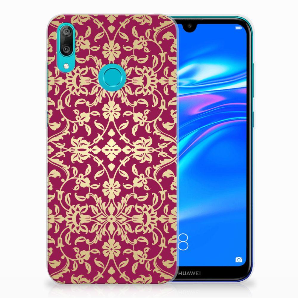 Siliconen Hoesje Huawei Y7 2019 Barok Pink