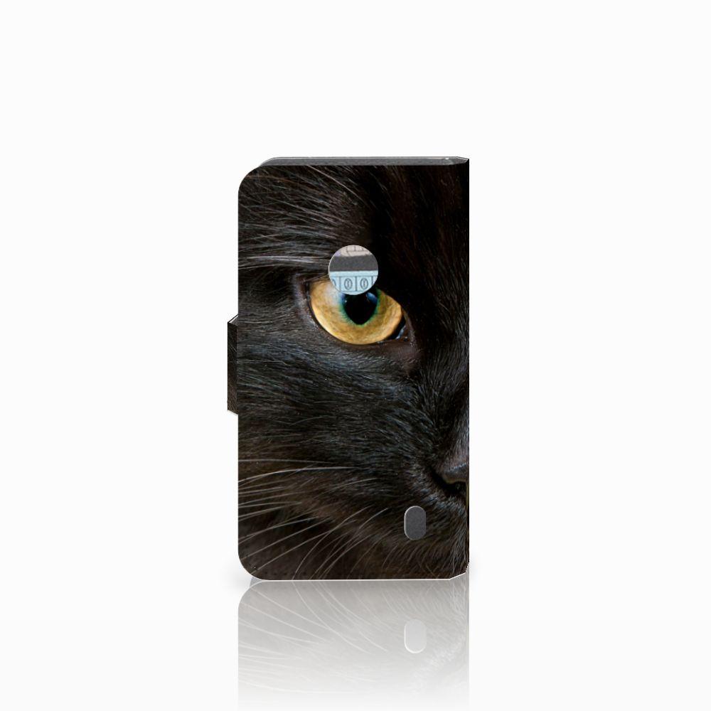 Nokia Lumia 520 Telefoonhoesje met Pasjes Zwarte Kat