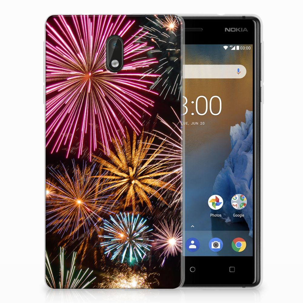 Nokia 3 Silicone Back Cover Vuurwerk