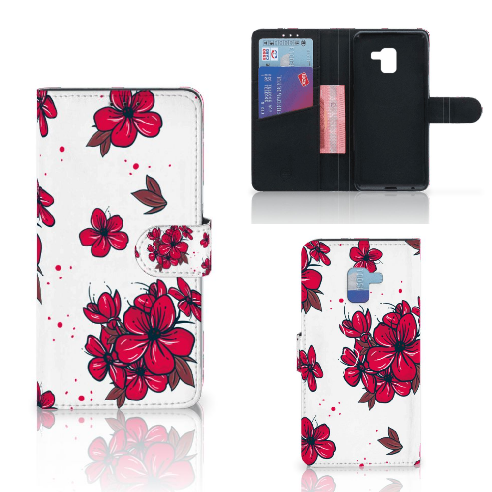Samsung Galaxy A8 Plus (2018) Hoesje Blossom Red