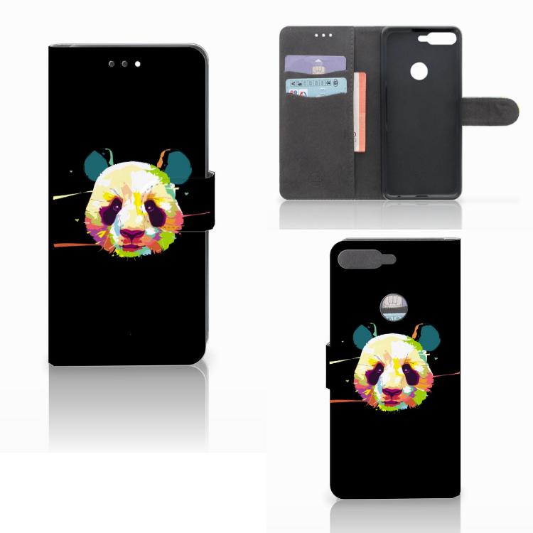 Huawei Y7 2018 Leuk Hoesje Panda Color