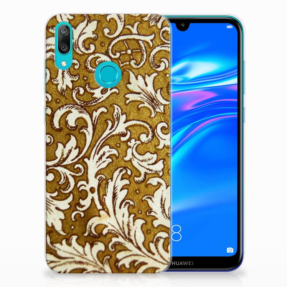 Siliconen Hoesje Huawei Y7 2019 Barok Goud