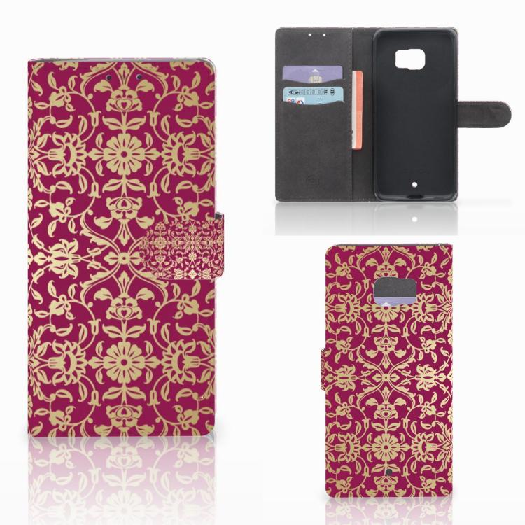 Wallet Case HTC U Ultra Barok Pink