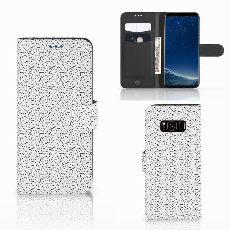 Samsung Galaxy S8 Telefoon Hoesje Stripes Dots